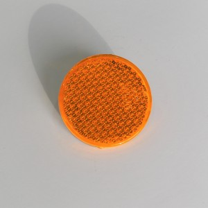 Reflector orange, with screw, 60 mm, plastic, Jawa, CZ