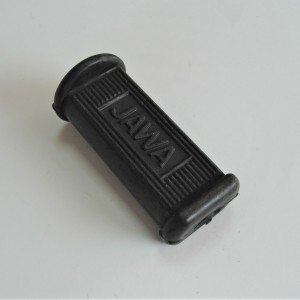 Footrest rubber front with Jawa logo - Jawa, CZ