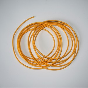 Electrical cable with glued braid 1,5 mm, yellow, 1m, Jawa, CZ