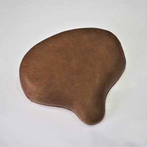 Seat front, retro leather, brown