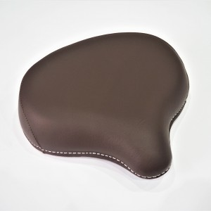 Seat front, half-leather, dark brown
