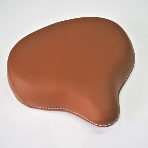 Seat front, half-leather, light brown