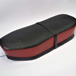 Seat, leatherette, black-red, Jawa, CZ