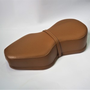 Seat, leatherette, light brown, Jawa, CZ