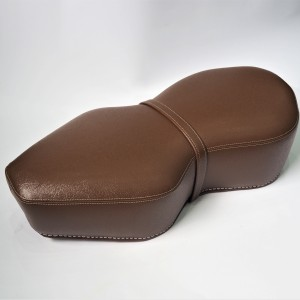 Seat, leatherette, dark brown, Jawa, CZ