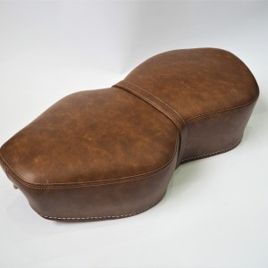 Seat, retro leather, original filling, brown, Jawa, CZ