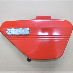 Tool box, right side, red, with the logo 350, the original, Jawa 634