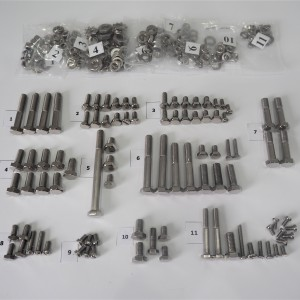 Screw set, all without engine, stainless steel/polished, CZ 125-250 typ 450/453/455/475/470/473