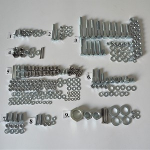 Screw set, all without engine, zink, Jawa 50 type 20