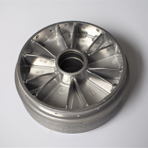 Wheel center, original, electrochemically polished, Jawa Panelka