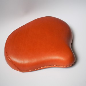 Seat front, leather, light brown