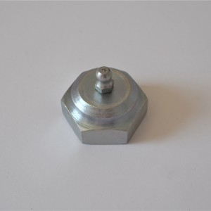 Nut for axle of fork with grease nipple, zink, CZ 477-488