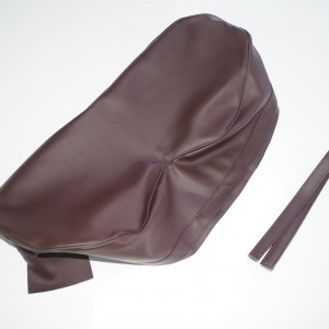 Seat cover, dark brown, Jawa, CZ