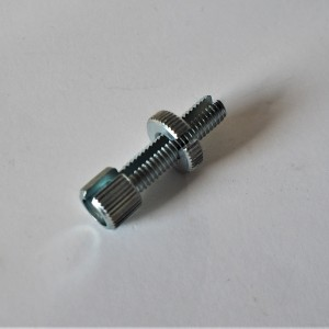 Cable setting screw with nut, zink, M8x30mm, Jawa, CZ