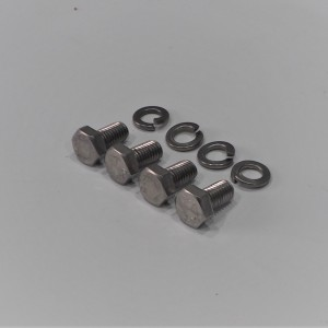Screws with washers of holder of exhaust silencer, M8, stainless, Jawa Kyvacka, Panelka