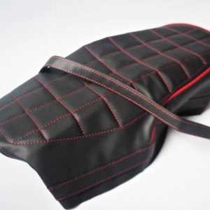 Seat cover, black with red line, CZ