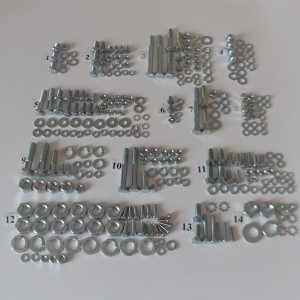 Screw set, all without engine, zinc, CZ 175/487