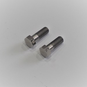 Handlebar mounting bolts, 2 pieces, stainless/polished, Jawa Villiers, Special