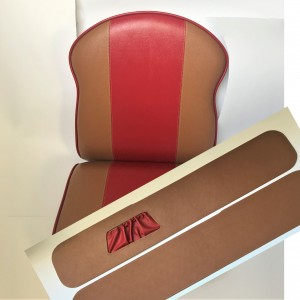 Seat sidecar + side-plate - complete,  leatherette, VELOREX 560/561