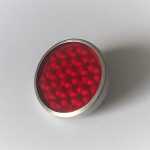 Reflector rot, with screw, stainless steel frame, 51 mm, plastic, Jawa