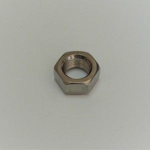 Nut for wheel shaft M16x1,5mm, rear, stainless, width 10mm, Jawa Perak, OHC, CZ 150/C