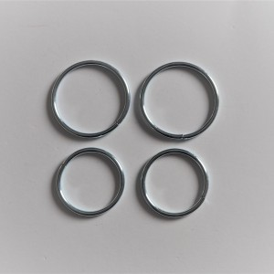 Dust cover clips for front fork, 4 piece, zinc, Jawa 50