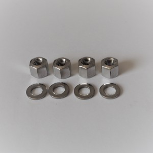 Nuts for cylinder head M6, 4 psc,stainless steel, Jawa 50