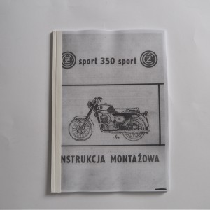 Assembly instructions CZ 350 type 472 - L.POLISH A4 format, 61 pages