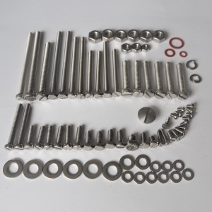 Screw set for engine, stainless, Jawa 350 type 354 Kyvacka