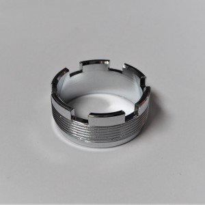 Nut for exhaust pipe, chrome, Jawa 350/634