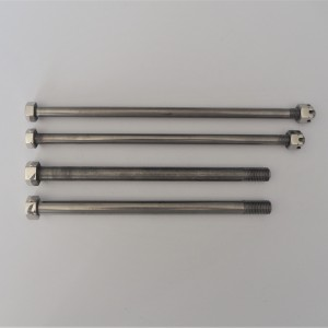 Axises of front fork, 4 pc, stainless steel, polished, Jawa Robot