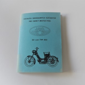 Spare parts catalogue Jawa 50 type 550 - L.SLOVAK A5 format, 48 pages