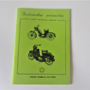 Workshop manual Jawa 50 type 550/555 - L.SLOVAK A5 format, 47 pages