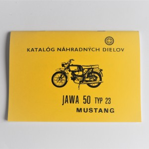 Spare parts catalogue Jawa 50 type 23 MUSTANG - L.SLOVAK A5 format, 68 pages