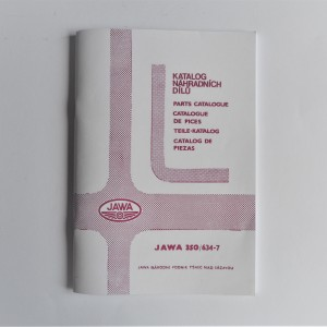 Spare parts catalogue JAWA 350/634 - L.CZECH, ENGLISH, GERMAN, A5 format, 80 pages