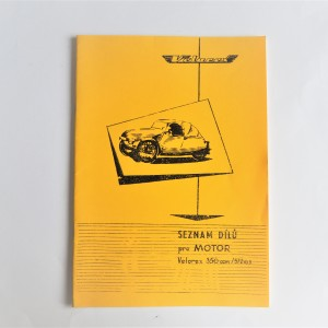 Spare parts catalogue VELOREX 350 - 572/03 - L.CZECH, A4 format, 34 pages
