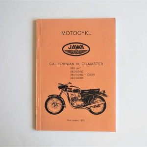 Spare parts catalogue JAWA CALIFORNIAN - L.CZECH, A5 format, 70 pages