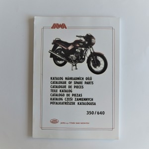 Spare parts catalogue JAWA 350/640 - L.CZECH, ENGLISH, GERMAN, POLISH, A4 format, 119 pages