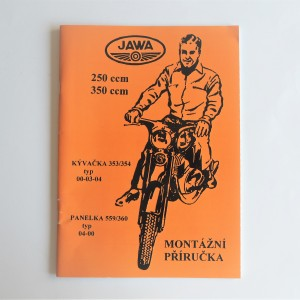Workshop manual JAWA KYVACKA 353/354, PANELKA 559/360 - L.CZECH, RUSSIAN, A4 format, 68 pages