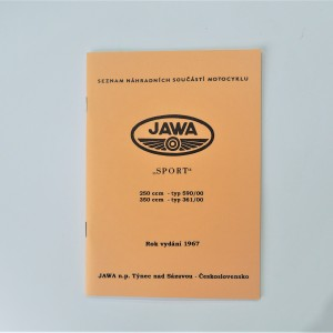Spare parts catalogue JAWA 250 type 590/00, 350 type 361/00 - L.CZECH, A5 format, 46 pages
