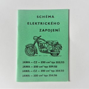 Electrical Installation Jawa 250/350 type 353/03, 559/02, 354/03, 354/06 - L.CZECH A5 format, 30 pages