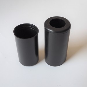 Plastic covers rear shock absorbers, lower + upper, original, Jawa, CZ 1954--
