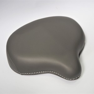 Seat front, half-leather, grey