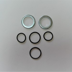 Washers and rubber sealings for rear swinging fork shaft, Jawa, CZ 1954--
