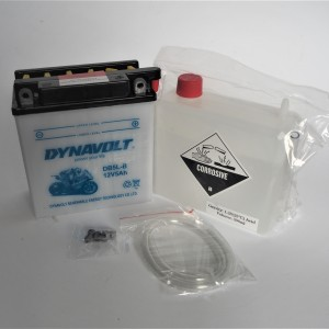 Motorcycle battery 12V-5Ah, DB 5L-B, 12,1x13,1x6,1cm