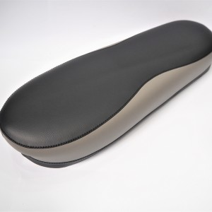 Seat, leatherette, black and gray, Jawa 50 typ 05/20/21