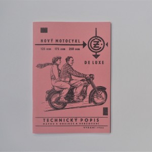 Instruction manual JAWA-CZ 125 TYPE 355, 175 TYPE 356 - L.CZECH A5 format, 64 pages