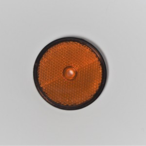 Reflector, Orange, on the screw, 60 mm, plastic, original, Jawa, CZ