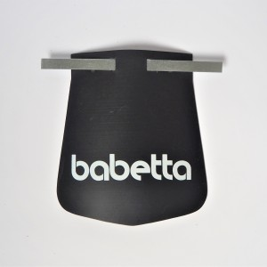 Mud flap, white logo babetta