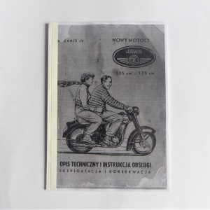 Technical description and instruction manual, operation and maintenance JAWA-CZ 125 type 355, 175 type 356 - L.POLISH A4 format, 32 (64) pages